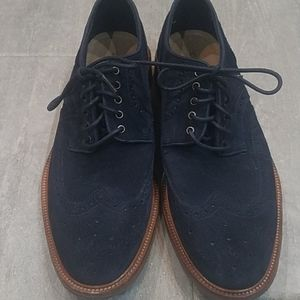 Trask Logan Navy Suede Shoes